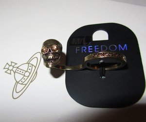bling, skull, and topshop image