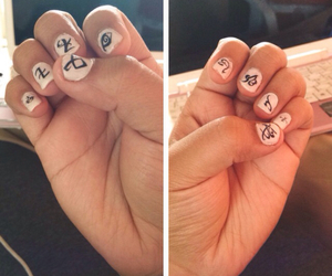 diy, nails art, and runas image
