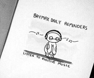 listen, music, and baymax image