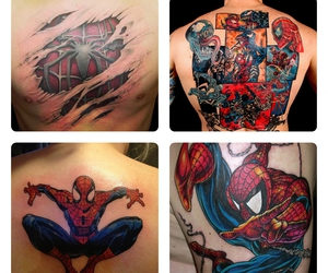 Marvel, spider-man, and tattoo image