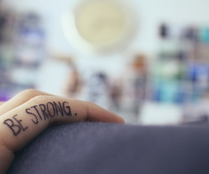 be strong, strong, and fingers image