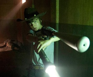 carl grimes and the walking dead image