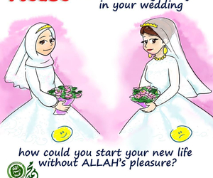 allah, islamic, and wedding image