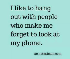 people, phone, and quote image
