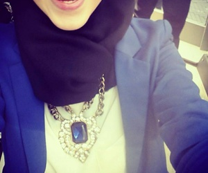 hijab, style, and smile image
