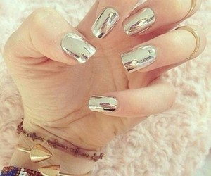 silver, mirror, and nails image