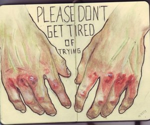 hands, tired, and art image