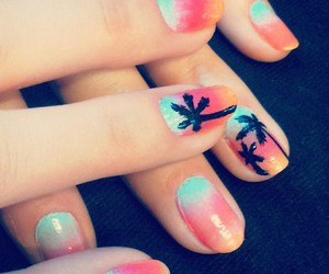 girly, manicure, and summer image