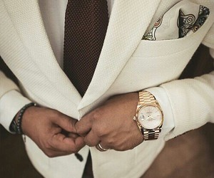 man, watch, and white image