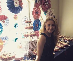 beautiful, black dress, and cupcake image