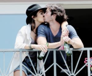 ian somerhalder, kiss, and nikki reed image