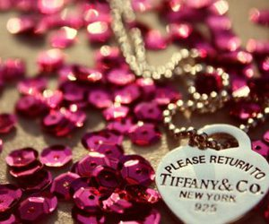pink, tiffany, and necklace image