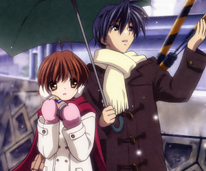 clannad, anime, and snow image