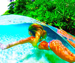 clear water, neon, and tropical image