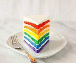 cake and rainbow image