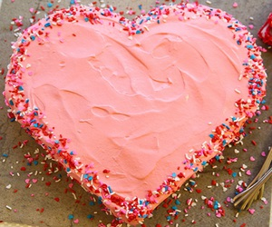 cake, desserts, and heart image
