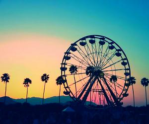 coachella, summer, and sunset image
