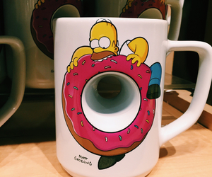 cup, donuts, and hipster image