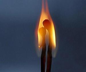 fire, match, and flame image