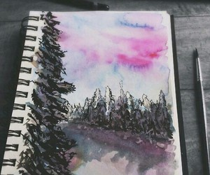 colour, forest, and paint image