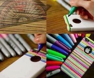 diy, phone case, and women fashion image