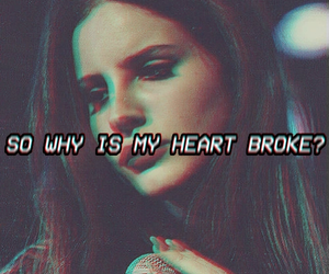 lana del rey, sad, and heart image
