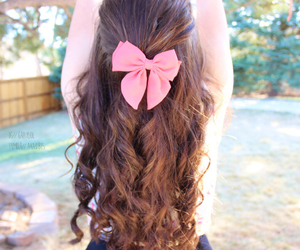 hair, bow, and tumblr quality image