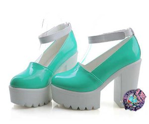 fashion, heels, and mint image