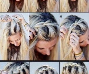 braid, hairstyles, and braided image