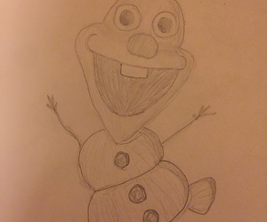 art, drawing, and olaf image