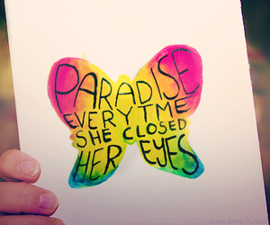 paradise, coldplay, and butterfly image