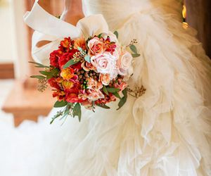 beautiful, wedding, and bouquet image