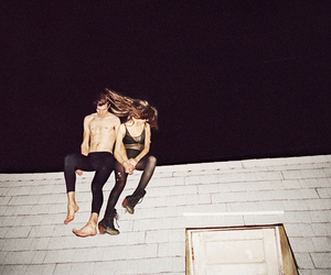 couple, boy, and night image