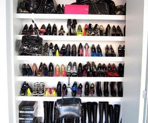 closet, heels, and shoes image