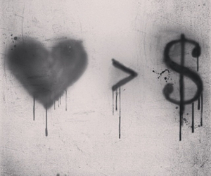 love, money, and heart image