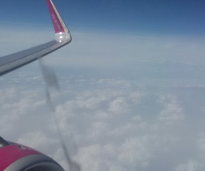 airplane, fly, and sky image