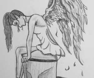 angel, art, and draw image