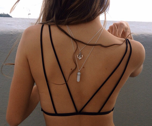 girl, necklace, and summer image