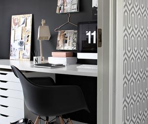 black, interior design, and dark image