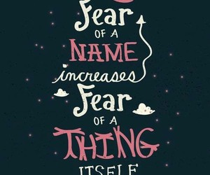 quotes, harry potter, and fear image