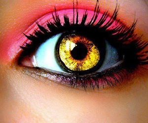 eye, pink, and eyes image