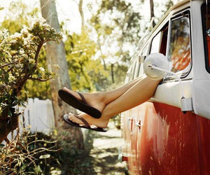 summer, car, and legs image