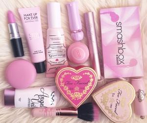 makeup, pink, and lipstick image