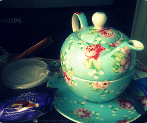 floral and teapot image
