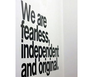 fearless, quote, and independent image