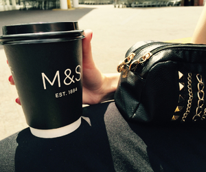 coffe, m&s, and fasion image
