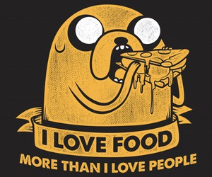food, JAKe, and adventure time image