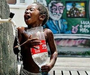 child, water, and happy image