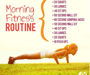 workout, fitness, and routine image