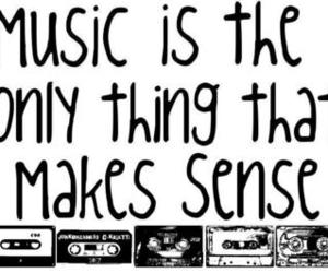 music, sense, and life image